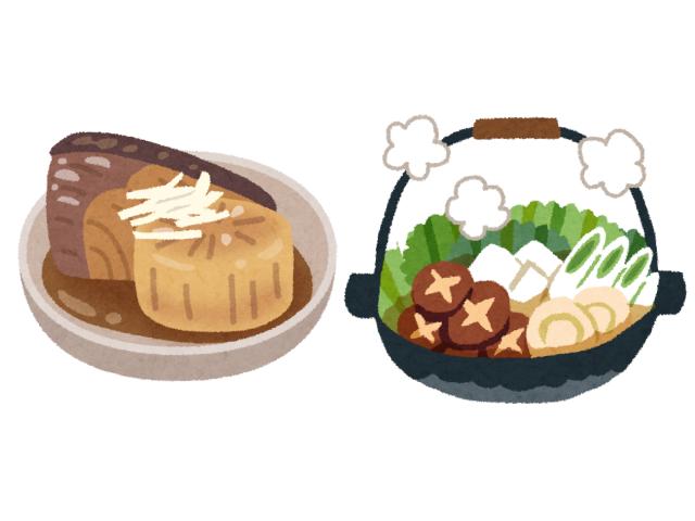 ぶり大根と鍋料理