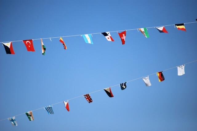 「体育の日」万国旗