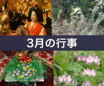 3月の行事(ひな祭り・モンシロチョウの幼虫・ホワイトデー・春の花)